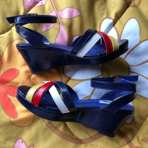 🆕VTG Style Multicolor Wedge Shoes
